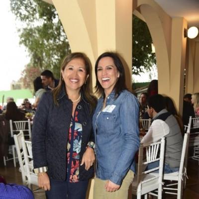 Jenny Villafuerte y Paola Rodríguez.