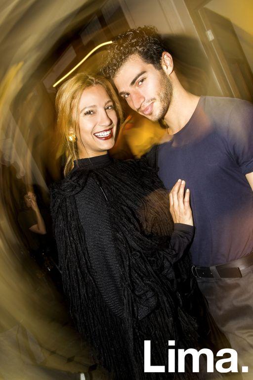 Lorena Larriviere y Miguel Aguel en after party de Yirko Sivirch, Monumental Callao.