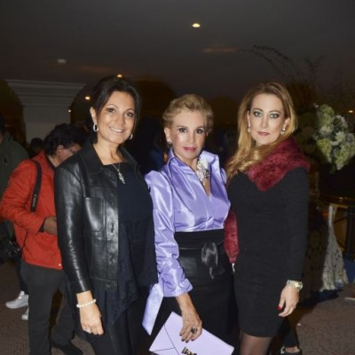Magali Simon, Isabel Serkovic y Rosa Ganoza.