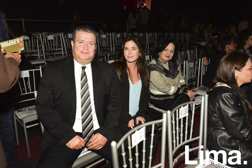 Mario Manzur, Cynthia Manzur y Marcela Manzur.