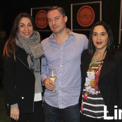 Rocío Mendoza, Hugo Palomino y Pamela Gray.