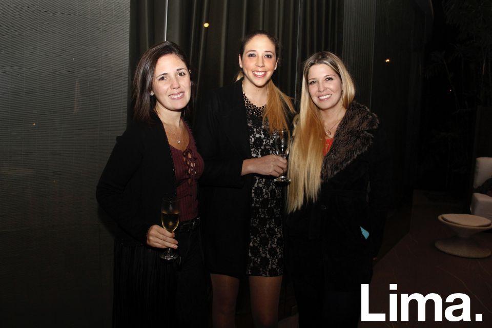 Talía Barrenechea, Maria Cristina Alva y Fabiola Beckmann.