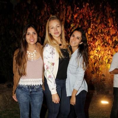 Claudia Torrejón, Krystel Krogh y Stefania Mentuccia.