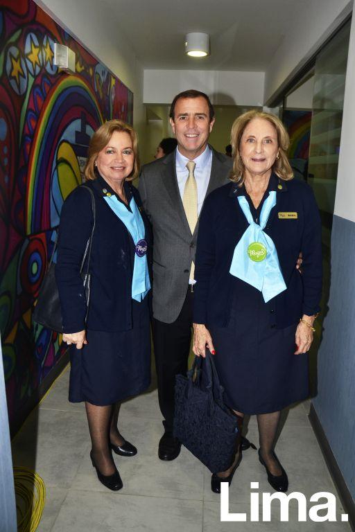 Consuelo Dañino, Rafael Franco y Maria Riva.
