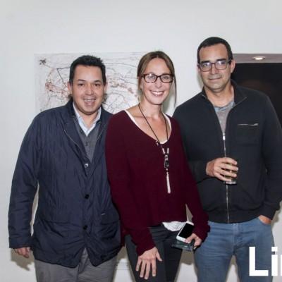 Diego Alvarado, Carmela Conde y Gustavo Alvarado.