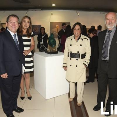 Domingo Drago, Karin de Drago, Susana Roca y Álvaro Roca Rey.