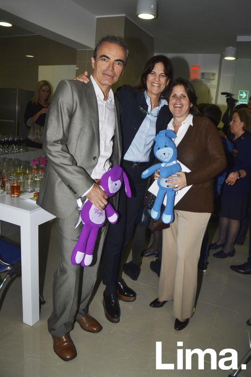 Enzo Vitale, Sandra Plevisani y Mariella Vignolo.