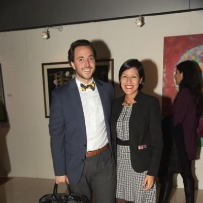 Guido Saz e Isabel  Briceño.