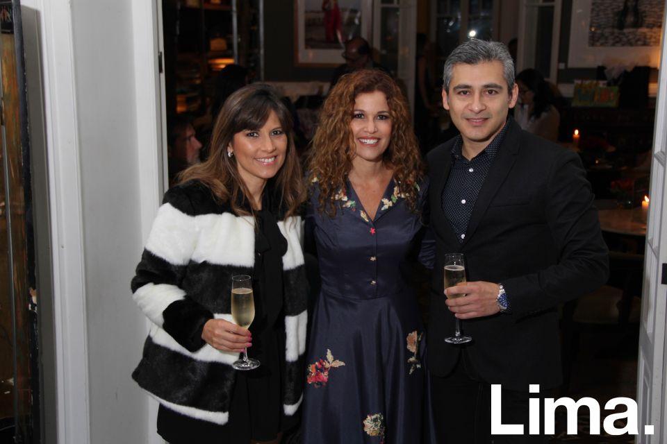 Lica Quevedo, Rochi Kahn y Eduardo Córdova.
