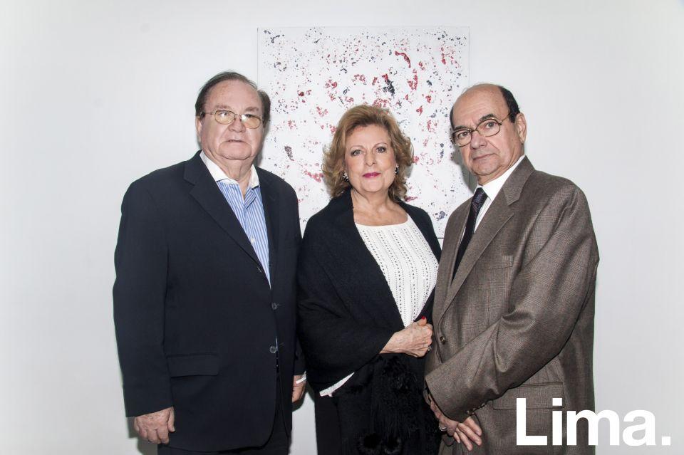 Lucho Nava, Maria Atala y Miguel Atala.