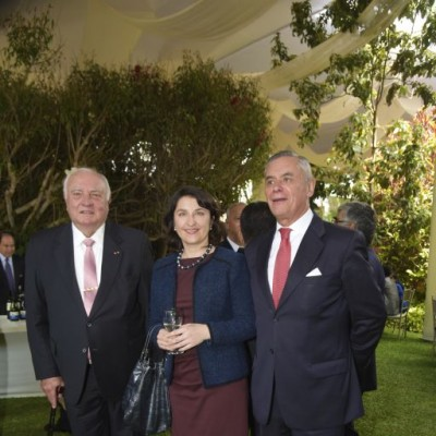 Luis Giampietri, Isabella Matusz y Roberto Ibarra.