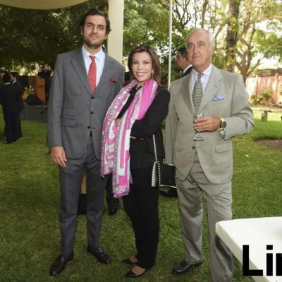 Moises Sánchez, Melisa León de Peralta y Pepe Cobo.