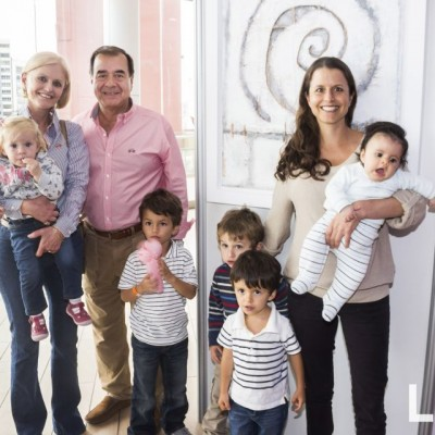 Emilia Olcese, Elizabeth y Tito Olcese, Salvador, Luis, Cristobal, Vanessa y Santiago Ricci.