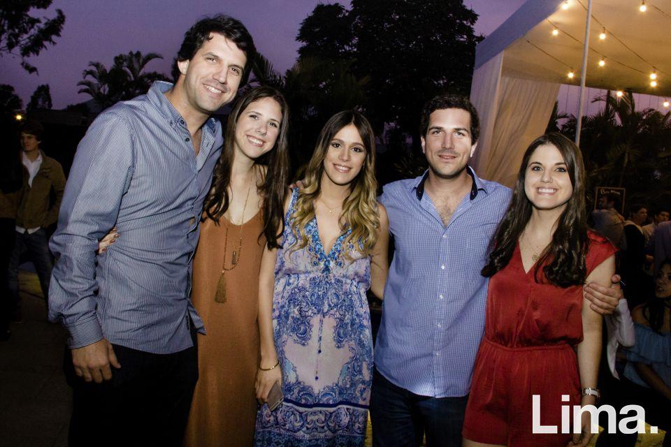 Enrique e Isabella Lulli, Nicole Tonnard, Stefano y Gabriela Lulli.
