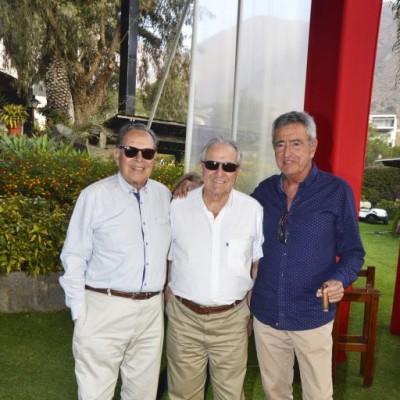 Julio Balbuena, Guillermo Sarria y Luis Carreras.