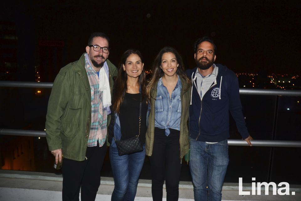 Manuel Bartra , Helena Zuazo , Natalia Delgado y Ronald Vasquez.