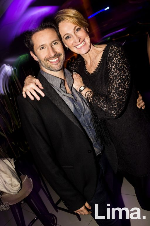 Marco Zunino y Denise Dibos en el after party de 7 semillas.