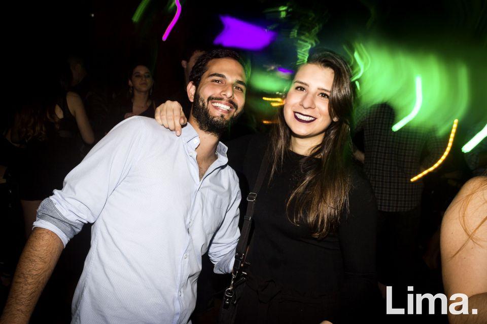 Samir Abuid y Beatriz Fernandez Concha en la fiesta main Haus.