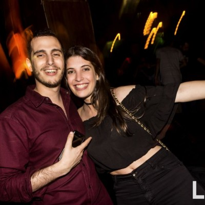 Sergio Ruzo y Claudia  Fleischman en la fiesta main Haus.