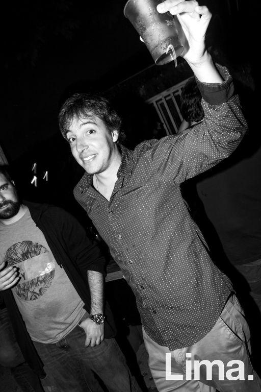 Stefano Traverso-Viale en la fiesta main Haus.