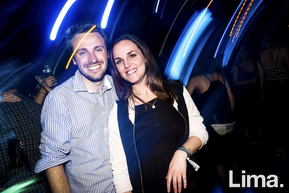 Toño Santamaria y Daniella Laghi en la fiesta main Haus.