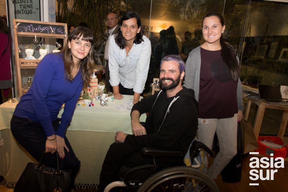 Alejandra Ursini, Flori Miro Quesada, Maria Luisa Miro Quesada y  Andres Miro Quesada.