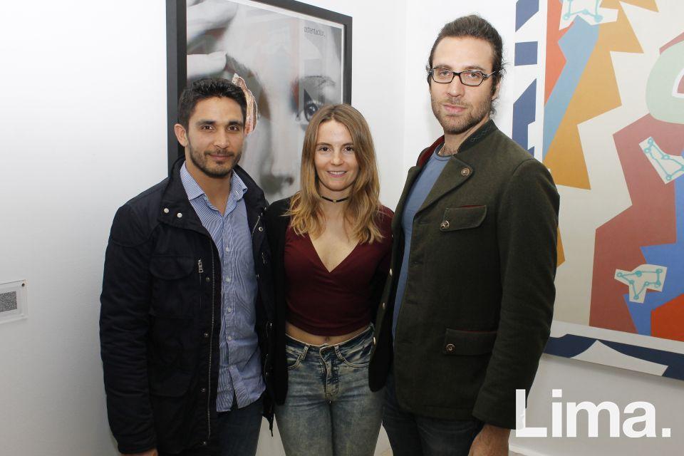 David Villacorta, Aisha Asconiga y Christian Fuchs.