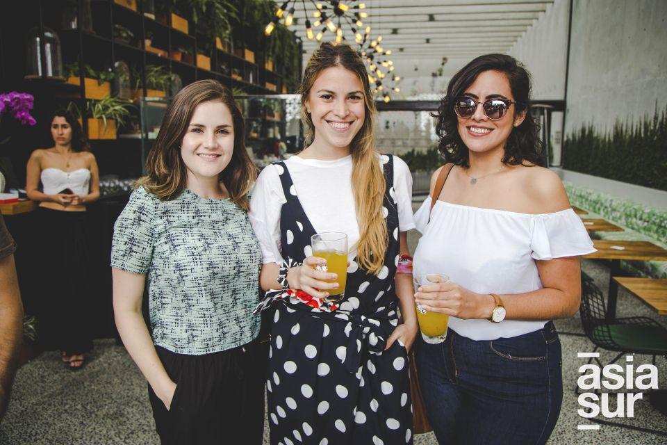 Lexie Saavedra, Francesca Garcia Miro y Denisse Best.