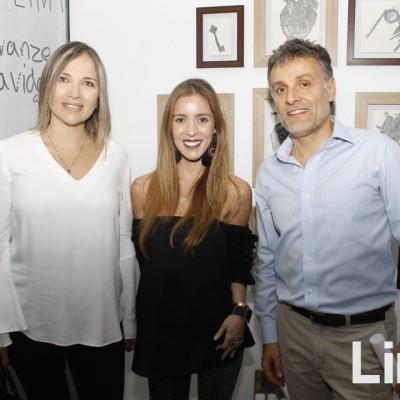 Lierka Fontana, Javier Aguayo y Alejandra Aspíllaga.