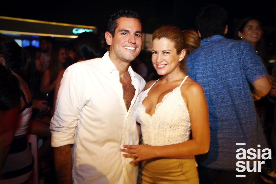 Alan García y Daniela Bazán.