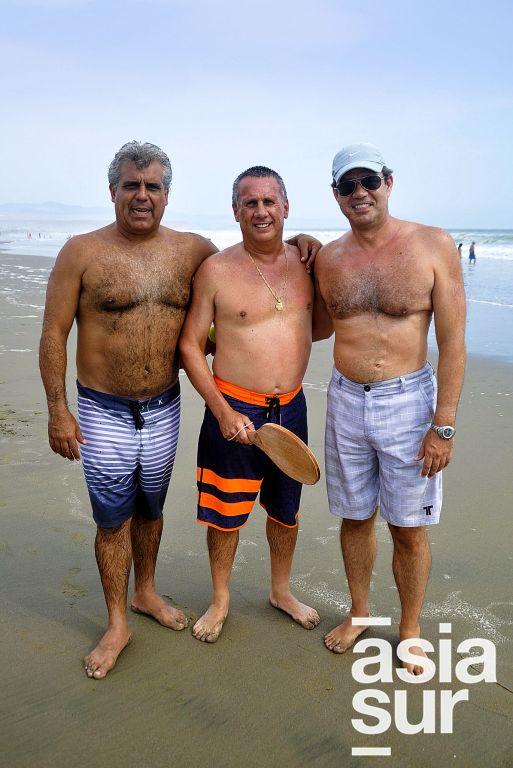 Alejandro Arana, Gonzalo Gambirazio y Eric Siekmann en Playa del Golf.