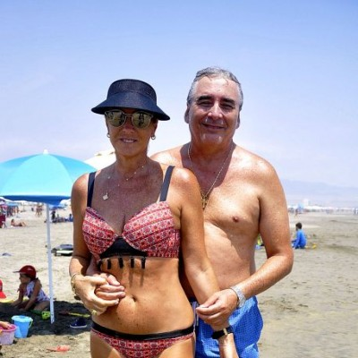 Araceli y Jaime Neumann en Playa del Sol.