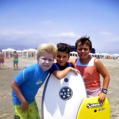 Axel Maurer, Guillermo Nieto y Joaquín Pinillos en Playa del Golf.