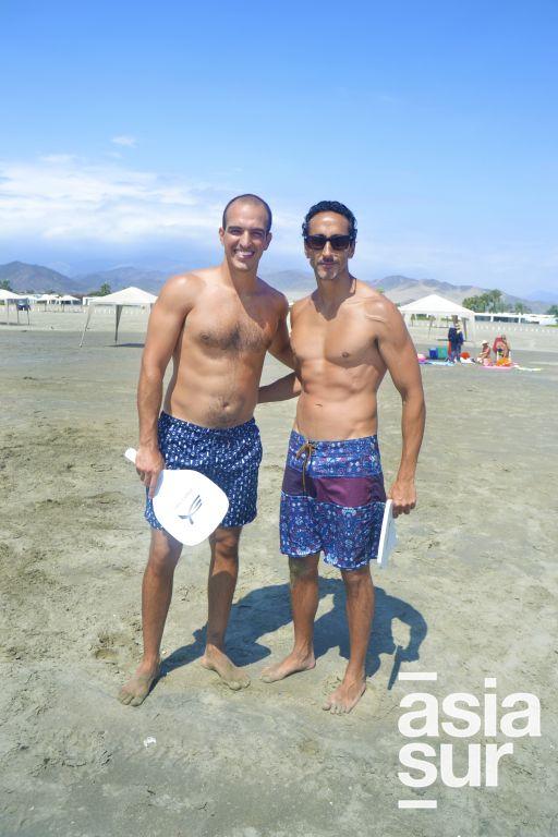 Bruno Talledo y Ramon Abasolo en Playa Blanca.