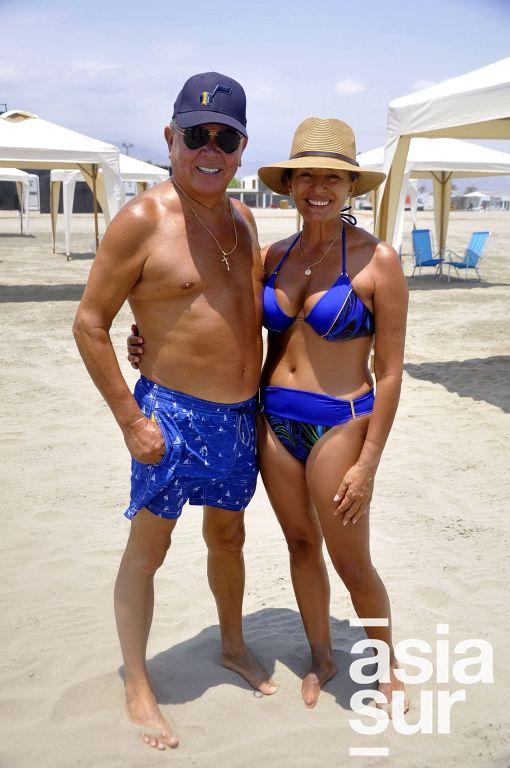 Carlos Salazar y Giulia Chiappe en Costa del Sol.