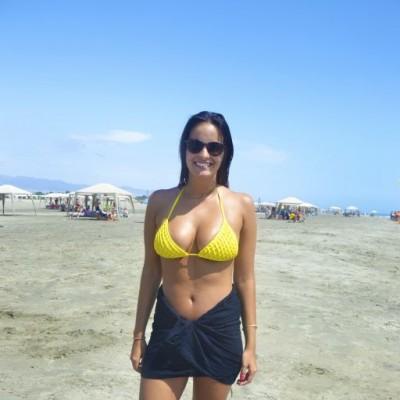 Daniela Poppe en Playa Blanca.