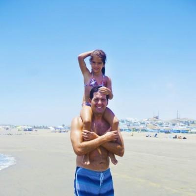 Eduardo y Althea Piccini en Playa del Golf.