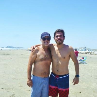 Fernando Garcia Rada y Andres Mella en Playa del Sol.