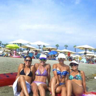 Fiorela Consiglieri, Claudia Ugarteche, Melissa del Solar y Cristina Castillo en Palmas.