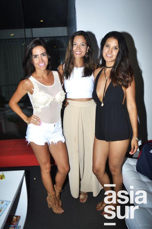 Fiorella Barcena , Pamela Llaury y Alexia de la Peña.