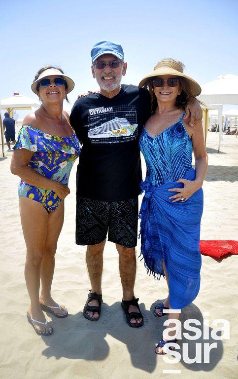 Gaby Agois, Javier Filomeno y Carmen Pastor en Playa el Golf.