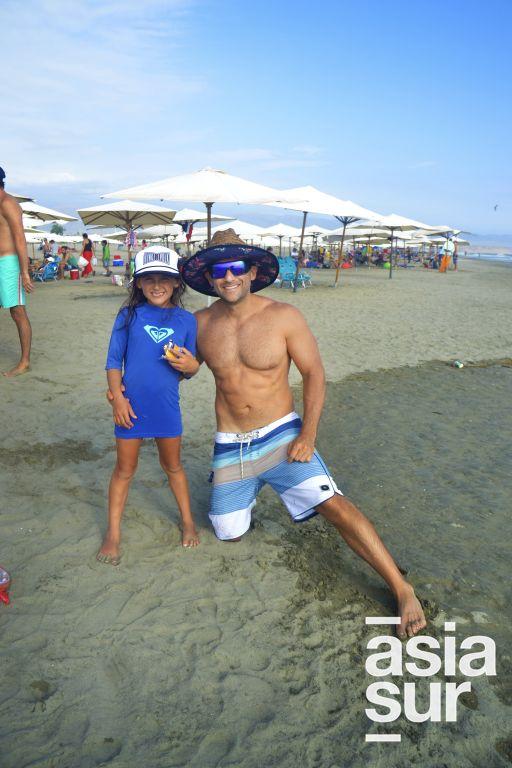 Isabella y Jean Paul Osores en Palmas.