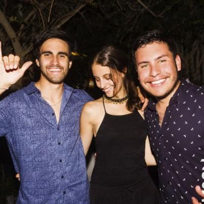 Luciano Rebagliati, Andrea Amado y Daniel Liners en Nikita, Boulevard de Asia.