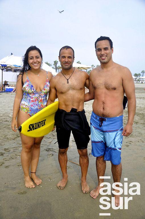 María Paz del Águila, Ricardo Barthelnes y Joaquin Namihas en Cayma.