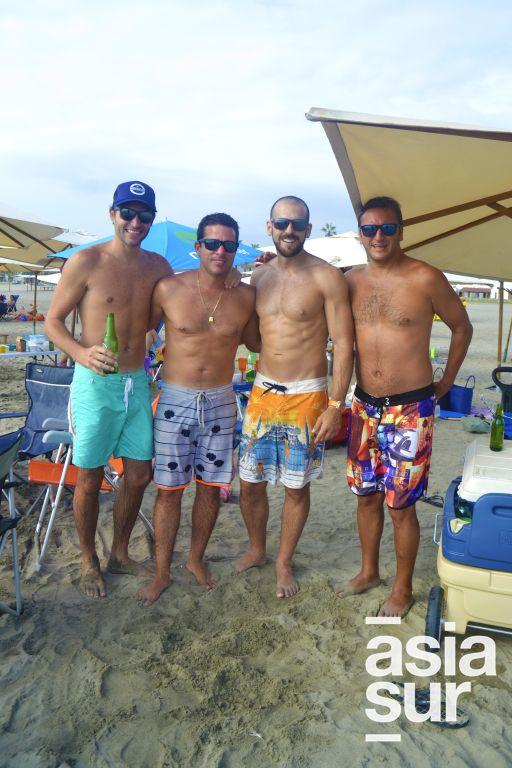 Martin Klingenberger, Daniel Michaels, Dante San Roman y Cesar Jorquiera en Palmas.