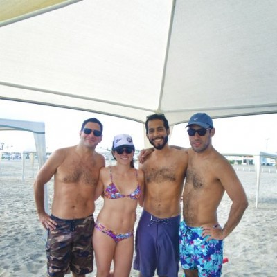 Mauricio Palao, Roxana Vasquez, Andres Estela y Matias Estela en Kapala.