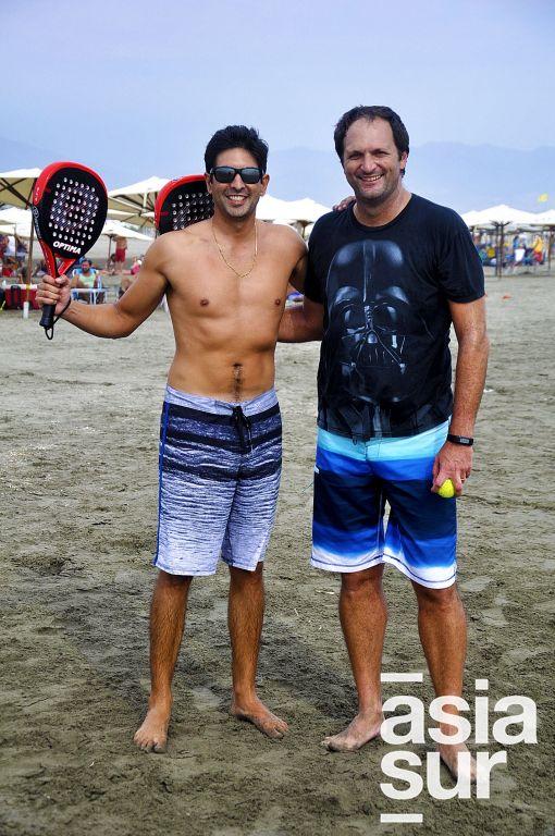 Miguel Fuentes y Diego López  en Cayma.