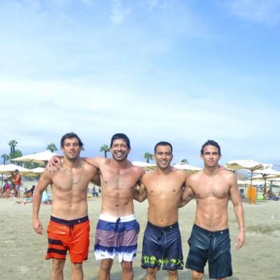 Nicolas Gonzalez, Alvaro Gomez, Manuel Price y Andre Romero en Palmas.