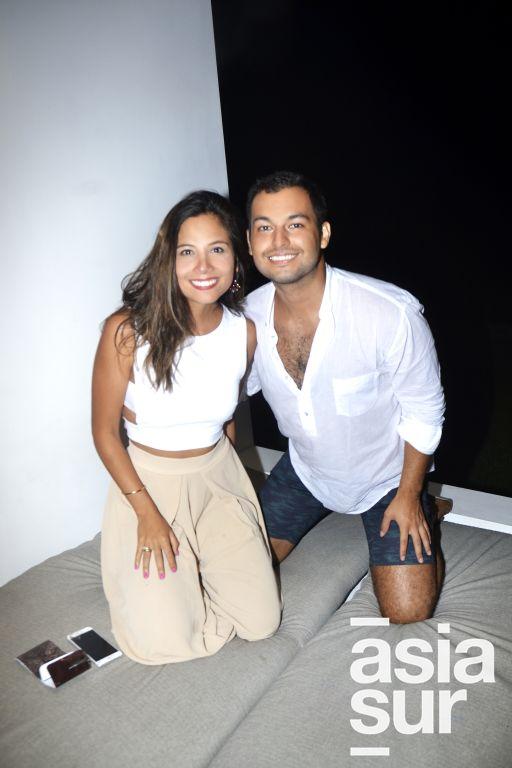 Pamela Llaury y Alejandro Melly.