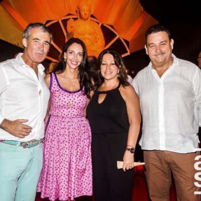 Rafael Arce, Inés Temple, Lily Morey y Eugenio Varela.